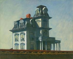 Casa junto a la vía del tren, Edward Hopper, 1925