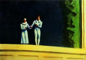 Dos cómicos, Edward Hopper, 1966