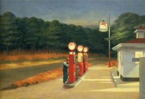 Gasolinera, Edward Hopper, 1940
