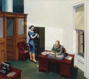 Oficina de noche, Edward Hopper, 1940