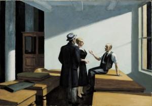 Reunión nocturna, Edward Hopper, 1949