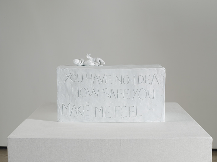 """You have no idea how safe you make me feel"", Tracey Emin"
