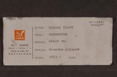 "Clavé, Antoni  - ""Gargantúa"" (1953)"
