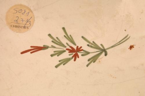 Tres recipientes de cerámica octogonales. Francia, siglo XVIII