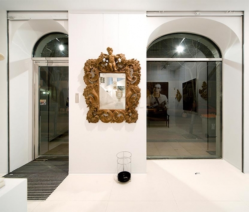 Gran espejo en el estilo de Fantoni. Bérgamo, Italia. Mediados d