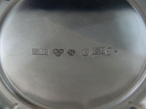 Gran vaso de plata. Guldsmedsaktiebolaget Ab. Estocolmo, Suecia,