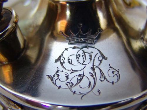 Lámpara de aceite plata dorada. George Falkenberg. Francia, fina