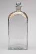 Botella vidrio Real Fábrica La Granja San Ildefonso, siglo XIX