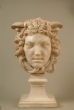 Carved white marble bust of Medusa. France, 19th Century.