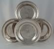 Four silver plates. Mexico City, circa 1701- 1714