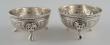 Pair of silver salt-cellars. William Leuchars. London, 1882