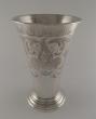 Gran vaso troncocónico plata. Hallberg. Estocolmo, Suecia, 1947
