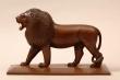 León tallado. Italia, siglo XIX