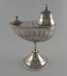 Silver incense boat  naveta. Manuel Lecumberri. Pamplona, Spain, 1891