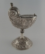 Silver incense boat naveta. Aragon? Spain. 3rd quarter of 19th Century
