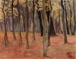 """Ott, Lucien - """"Paisaje con troncos de árboles"""" (1899)"""