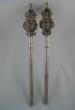 Pair of parcel gilt silver sceptres. Castile, Spain. Mid 18th Century