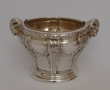 Louis XVI style small silver and glass container. Puiforcat. France, 1869