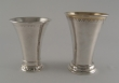 Three silver beakers. Stockholm, Sweden, 1929,1940 and 1941