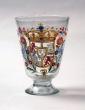 Vaso de vidrio con pie, Centroeuropa, Carlos III, 1759-1788