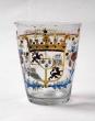 Vaso de vidrio esmaltado, Centroeuropa, siglo XVIII-XIX