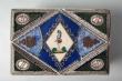 Caja de papel pintado. Siglo XIX